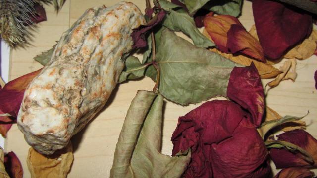 Deko Stein mit Rosen