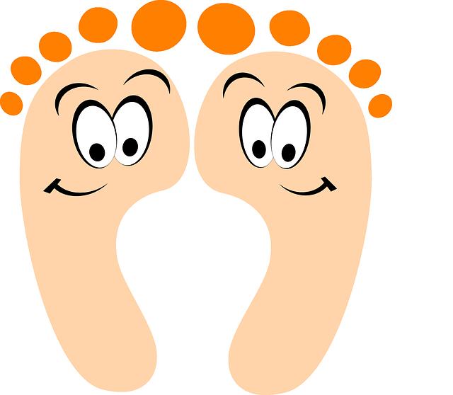Füße mit Gesichtern