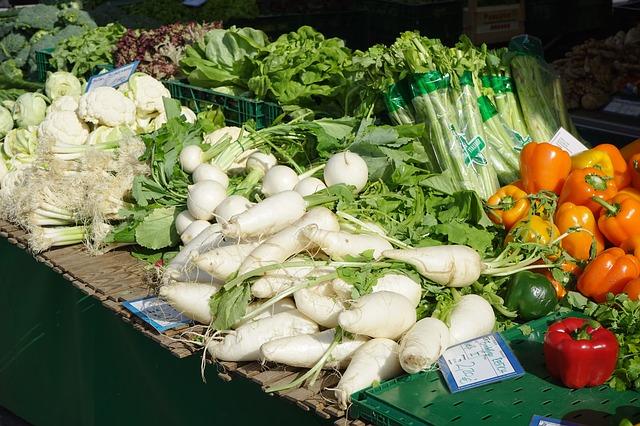 Gemüse Marktstand