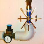 großer Wasserstern am Rohr montiert